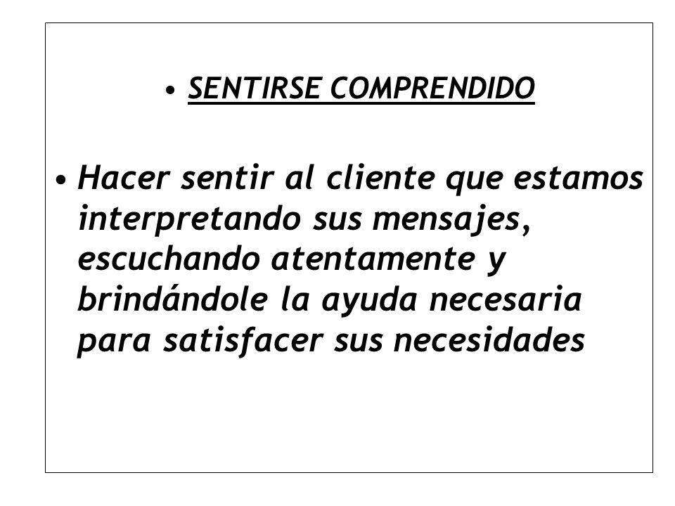SENTIRSE COMPRENDIDO