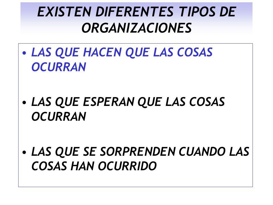 EXISTEN DIFERENTES TIPOS DE ORGANIZACIONES