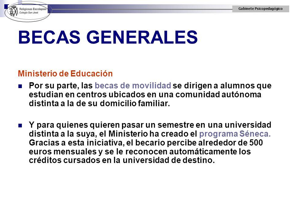 BECAS GENERALES Ministerio de Educación