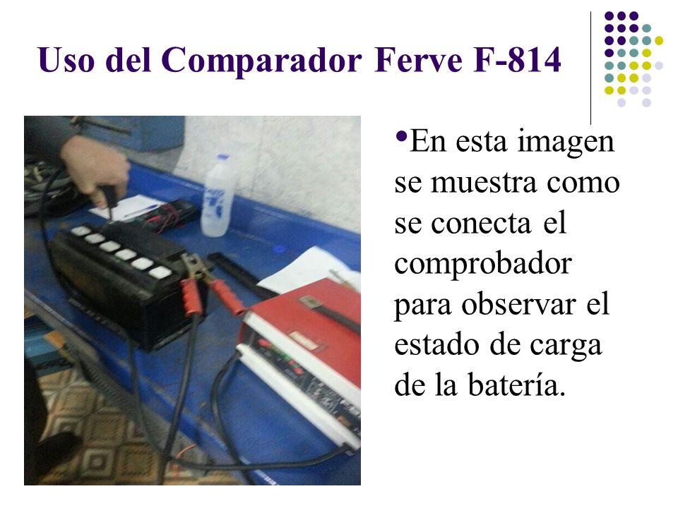 Uso del Comparador Ferve F-814