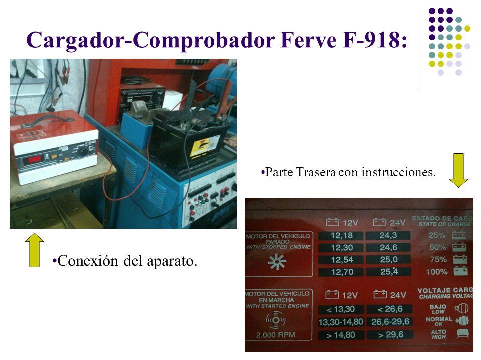 Cargador-Comprobador Ferve F-918: