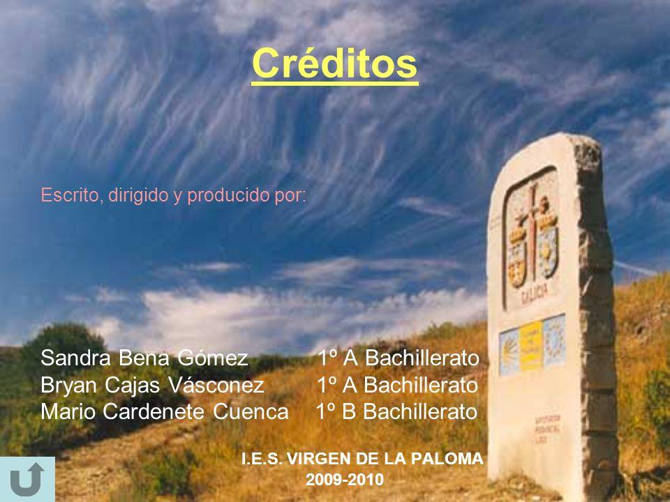 Créditos Sandra Bena Gómez 1º A Bachillerato