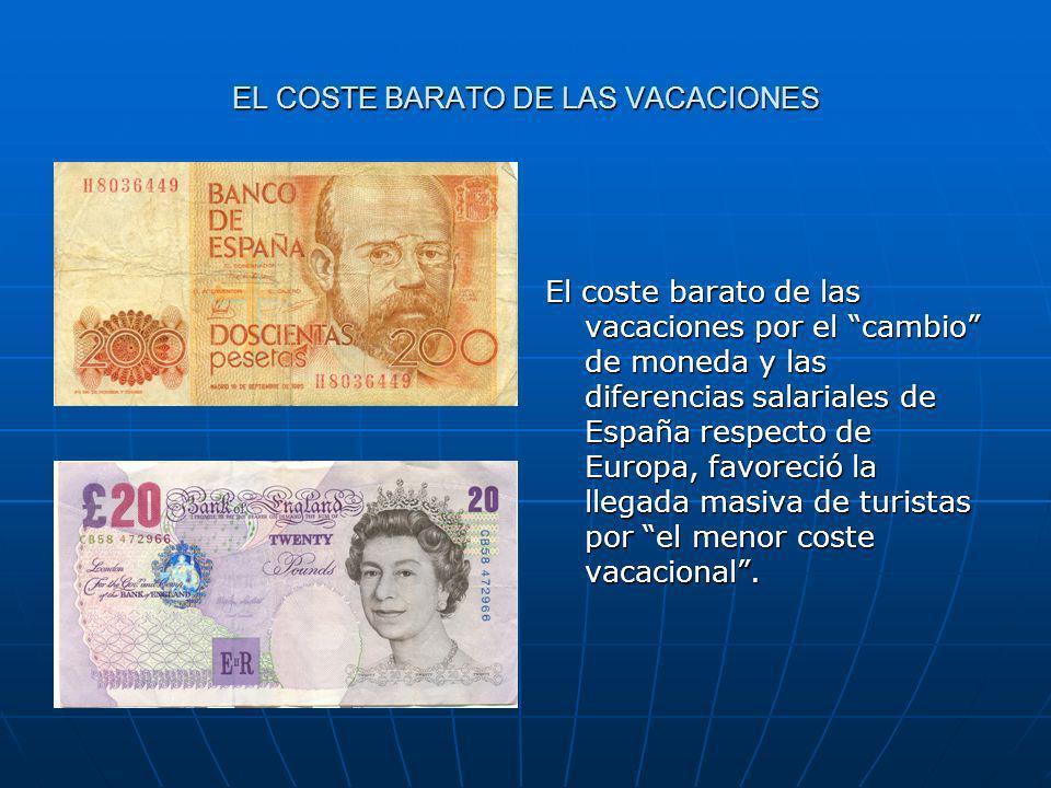 EL COSTE BARATO DE LAS VACACIONES