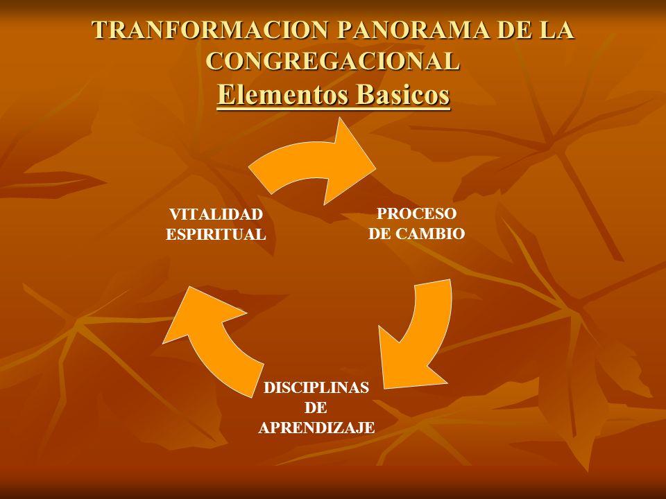 TRANFORMACION PANORAMA DE LA CONGREGACIONAL Elementos Basicos
