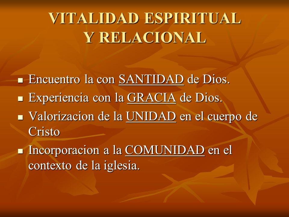 VITALIDAD ESPIRITUAL Y RELACIONAL