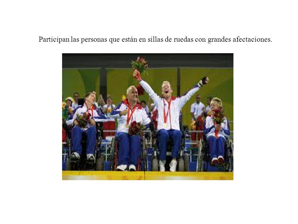 Participan las personas que están en sillas de ruedas con grandes afectaciones.