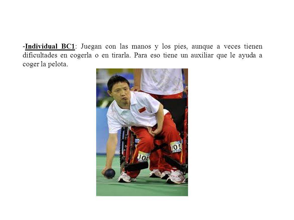 -Individual BC1: Juegan con las manos y los pies, aunque a veces tienen dificultades en cogerla o en tirarla.