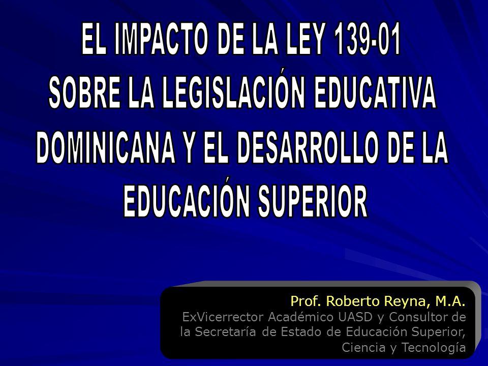 SOBRE LA LEGISLACIÓN EDUCATIVA DOMINICANA Y EL DESARROLLO DE LA