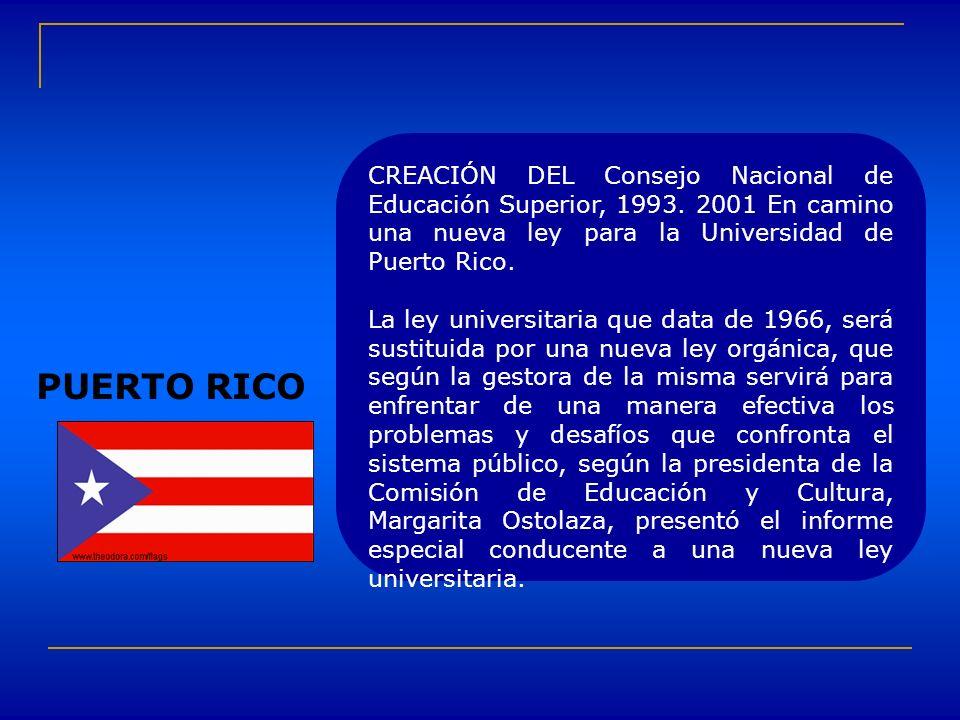 CREACIÓN DEL Consejo Nacional de Educación Superior, 1993