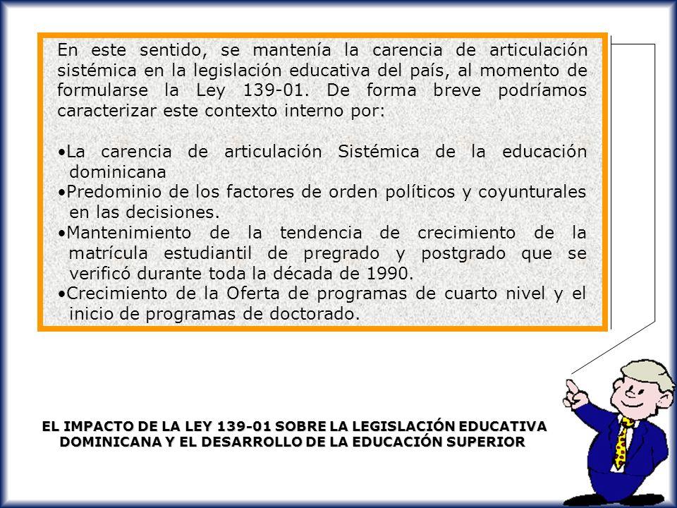 La carencia de articulación Sistémica de la educación dominicana