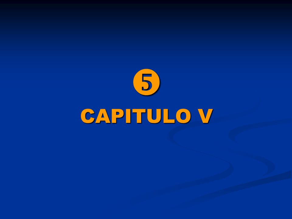  CAPITULO V