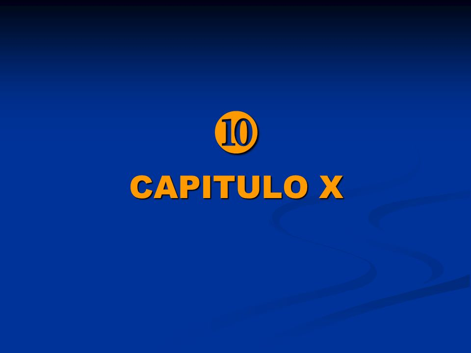  CAPITULO X