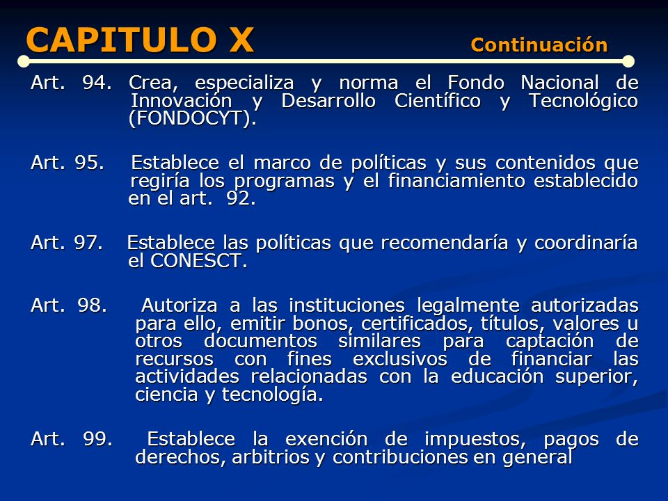CAPITULO X Continuación