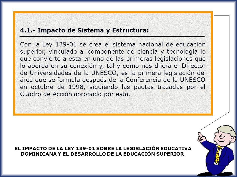4.1.- Impacto de Sistema y Estructura: