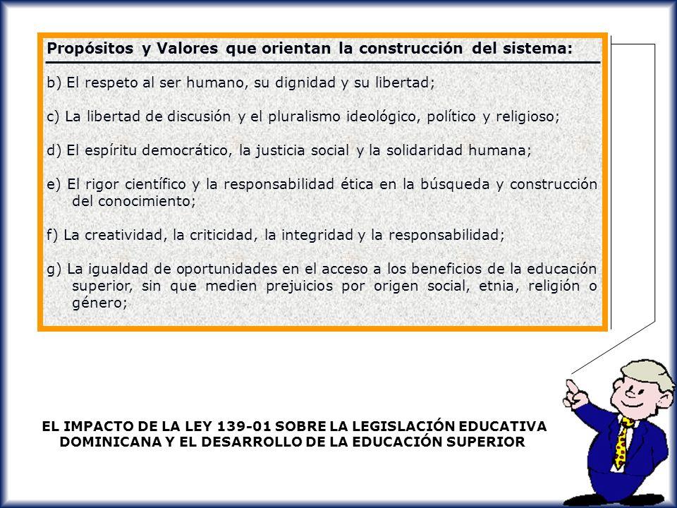 Propósitos y Valores que orientan la construcción del sistema: