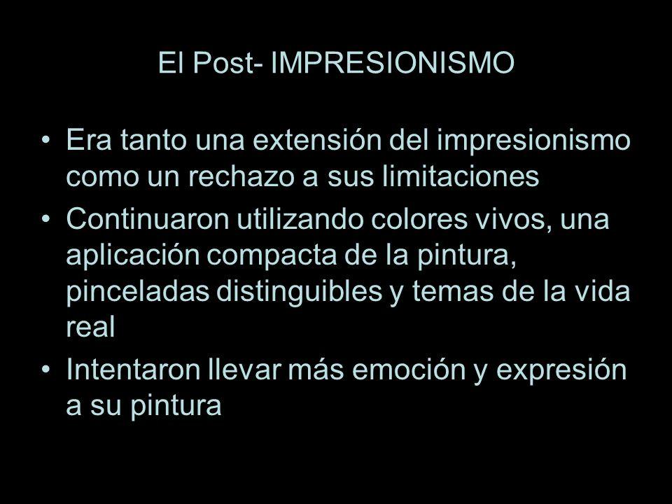 El Post- IMPRESIONISMO