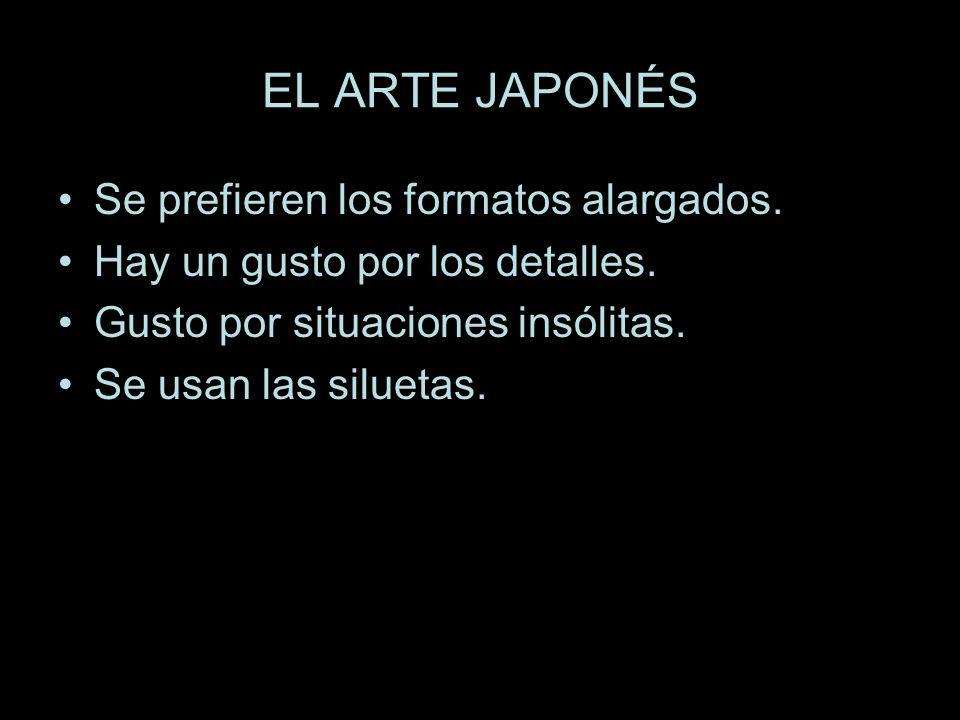 EL ARTE JAPONÉS Se prefieren los formatos alargados.