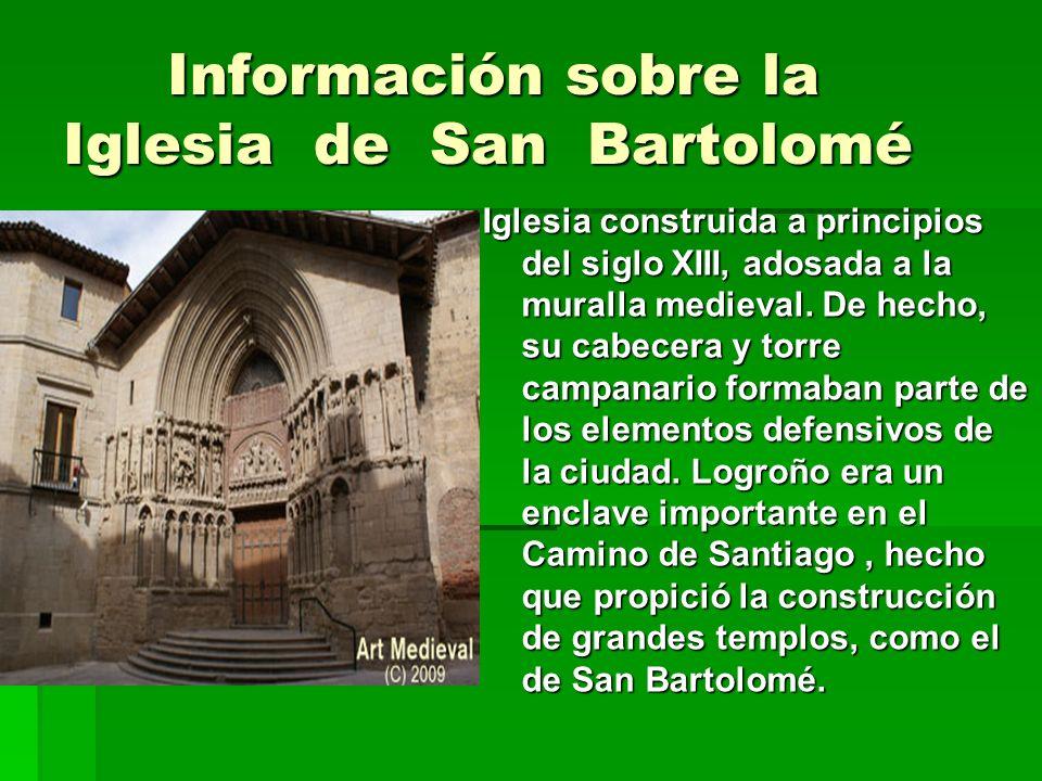 Información sobre la Iglesia de San Bartolomé