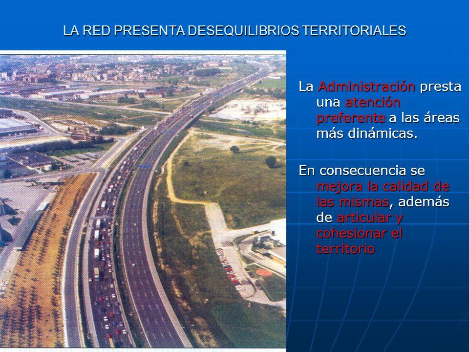 LA RED PRESENTA DESEQUILIBRIOS TERRITORIALES