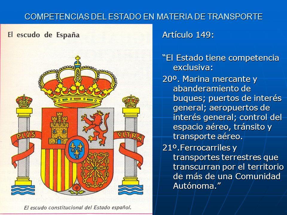COMPETENCIAS DEL ESTADO EN MATERIA DE TRANSPORTE