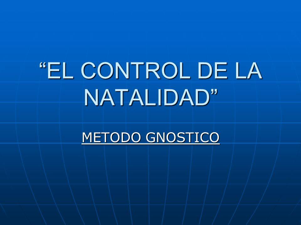 EL CONTROL DE LA NATALIDAD