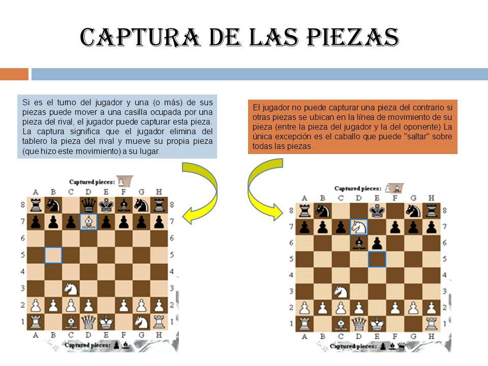 CAPTURA DE LAS PIEZAS
