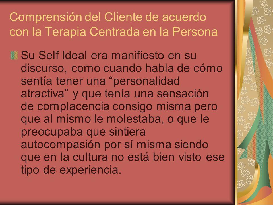 Comprensión del Cliente de acuerdo con la Terapia Centrada en la Persona