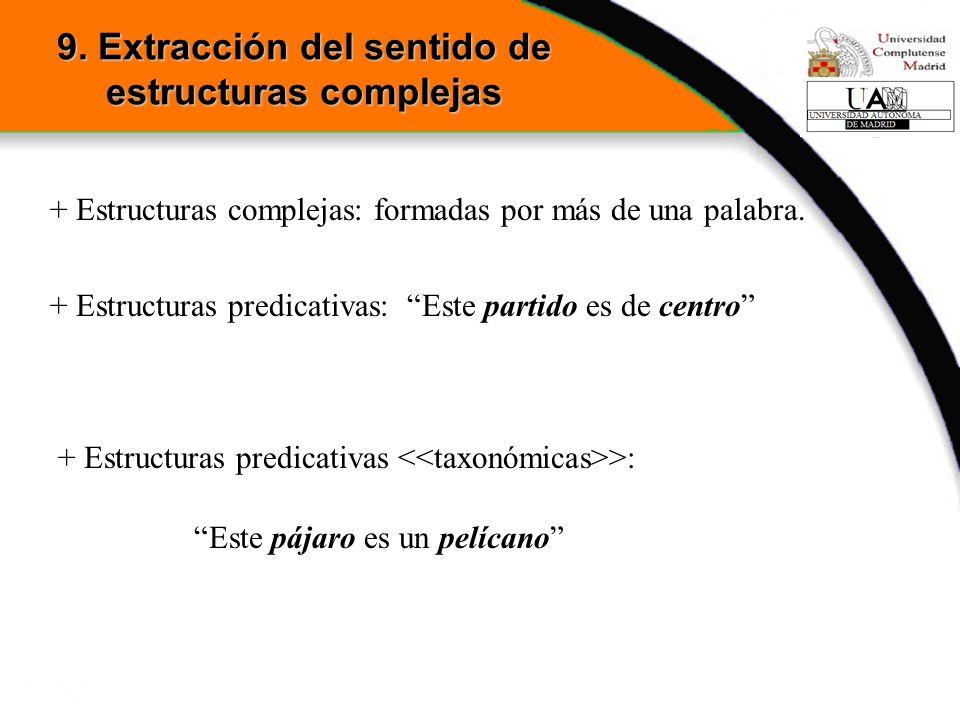 9. Extracción del sentido de estructuras complejas