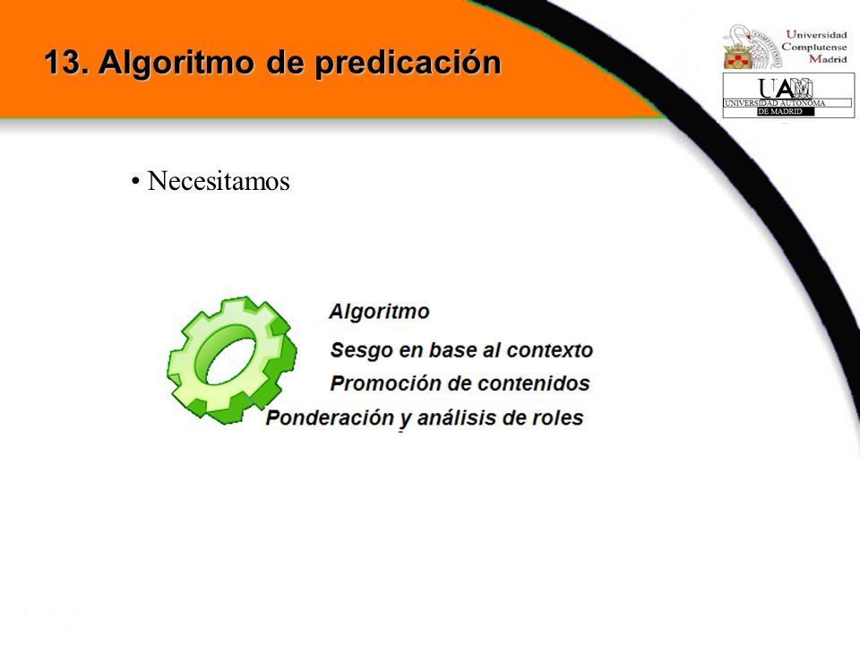 13. Algoritmo de predicación