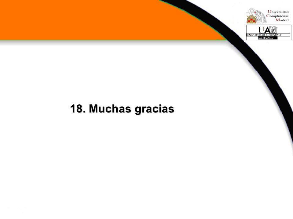 18. Muchas gracias