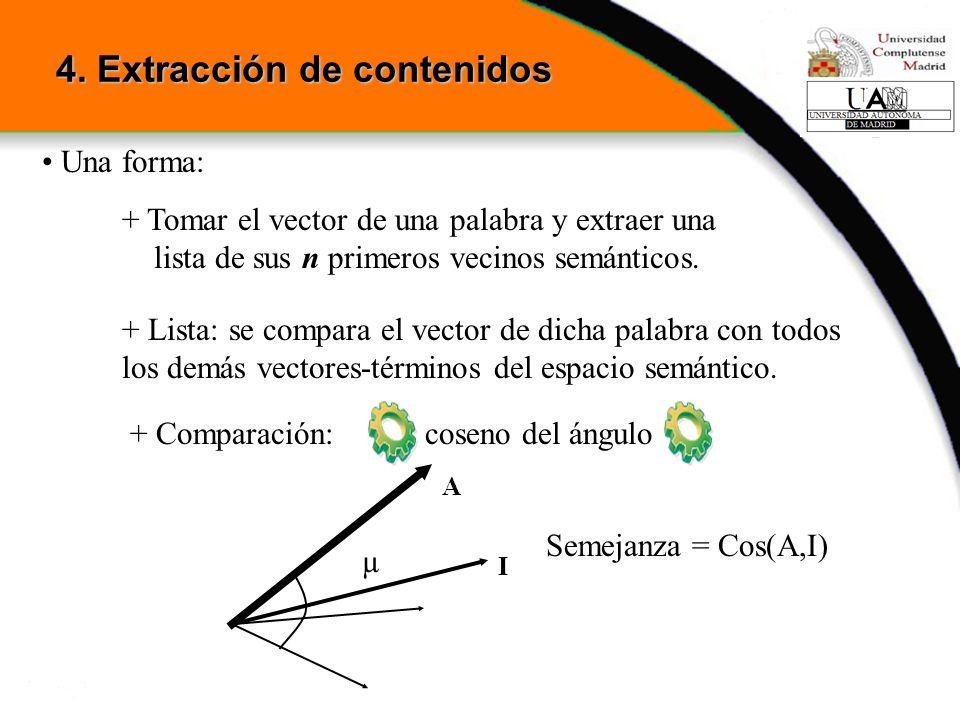 4. Extracción de contenidos