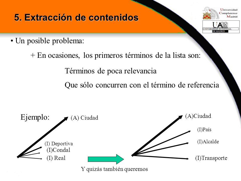 5. Extracción de contenidos