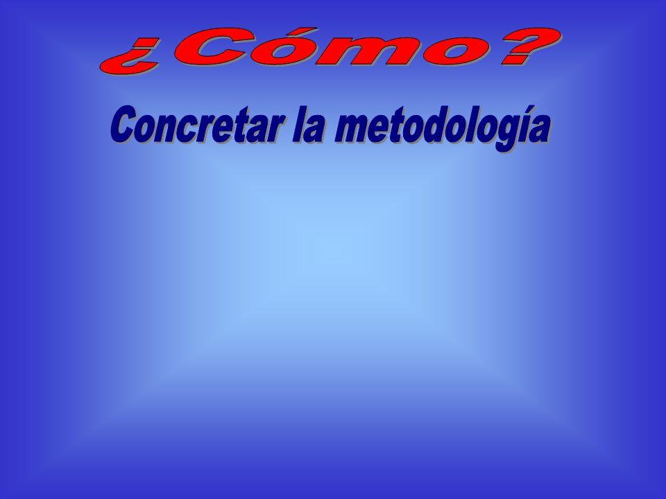 Concretar la metodología