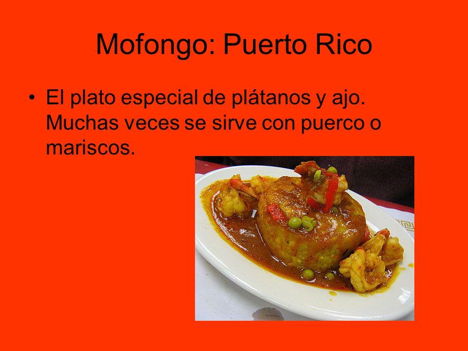 Mofongo: Puerto Rico El plato especial de plátanos y ajo.