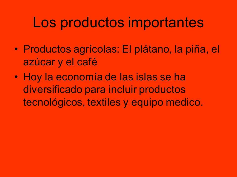 Los productos importantes