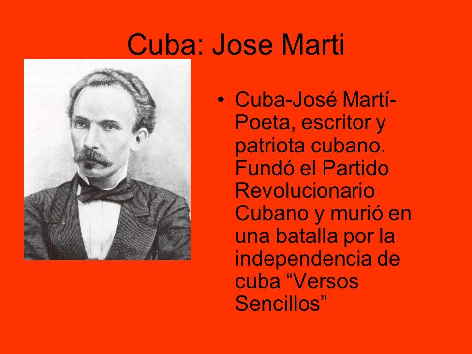 Cuba: Jose Marti