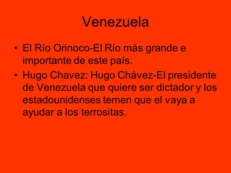 Venezuela El Río Orinoco-El Río más grande e importante de este país.