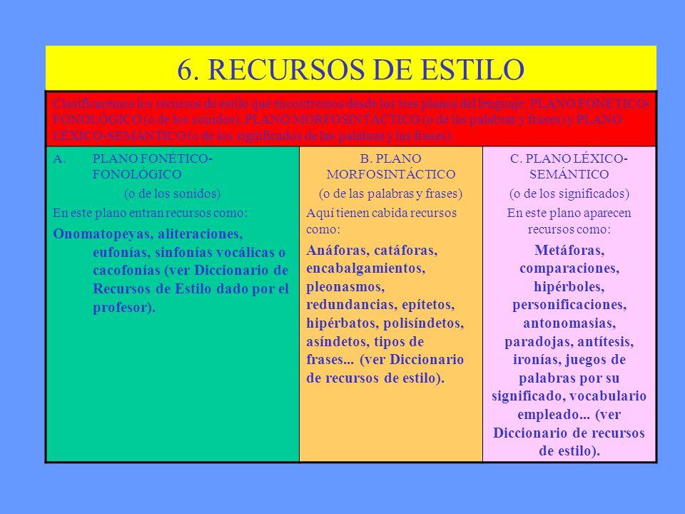 6. RECURSOS DE ESTILO