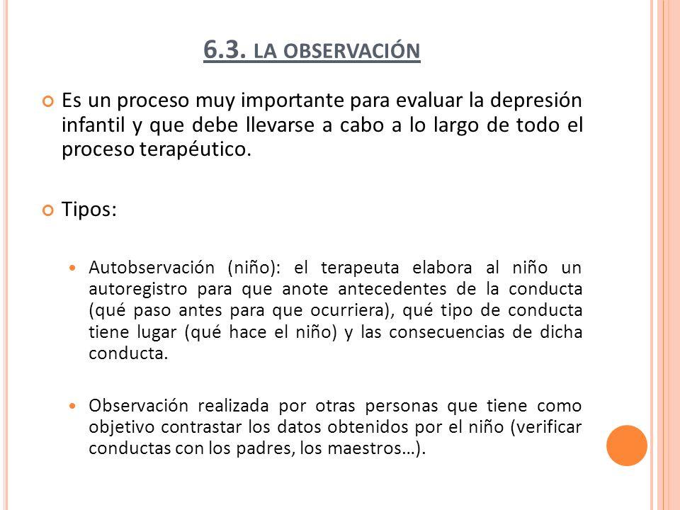 6.3. la observación