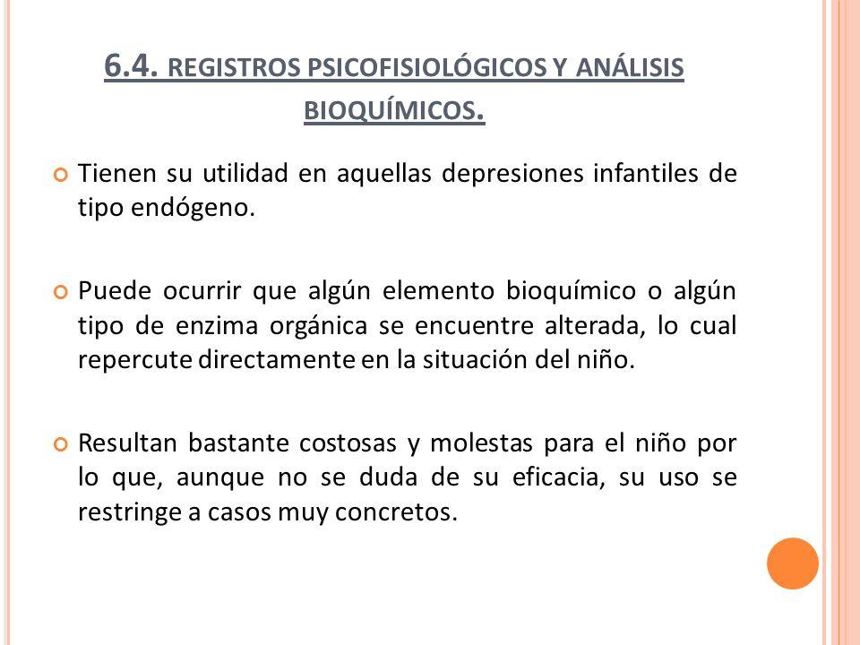 6.4. registros psicofisiológicos y análisis bioquímicos.
