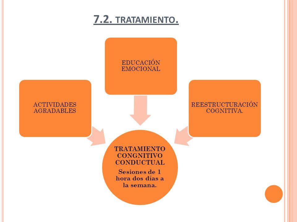 7.2. tratamiento. TRATAMIENTO CONGNITIVO CONDUCTUAL