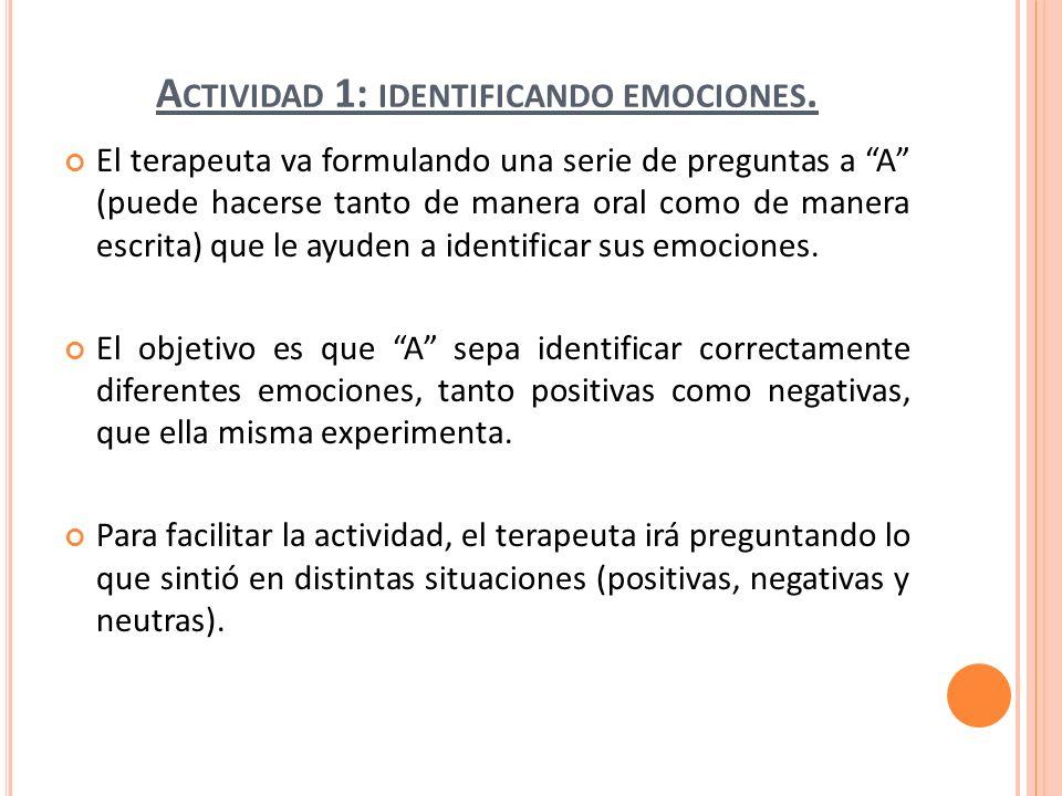 Actividad 1: identificando emociones.