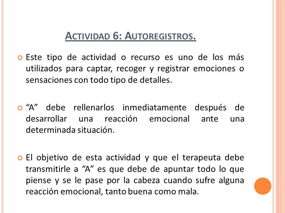 Actividad 6: Autoregistros.