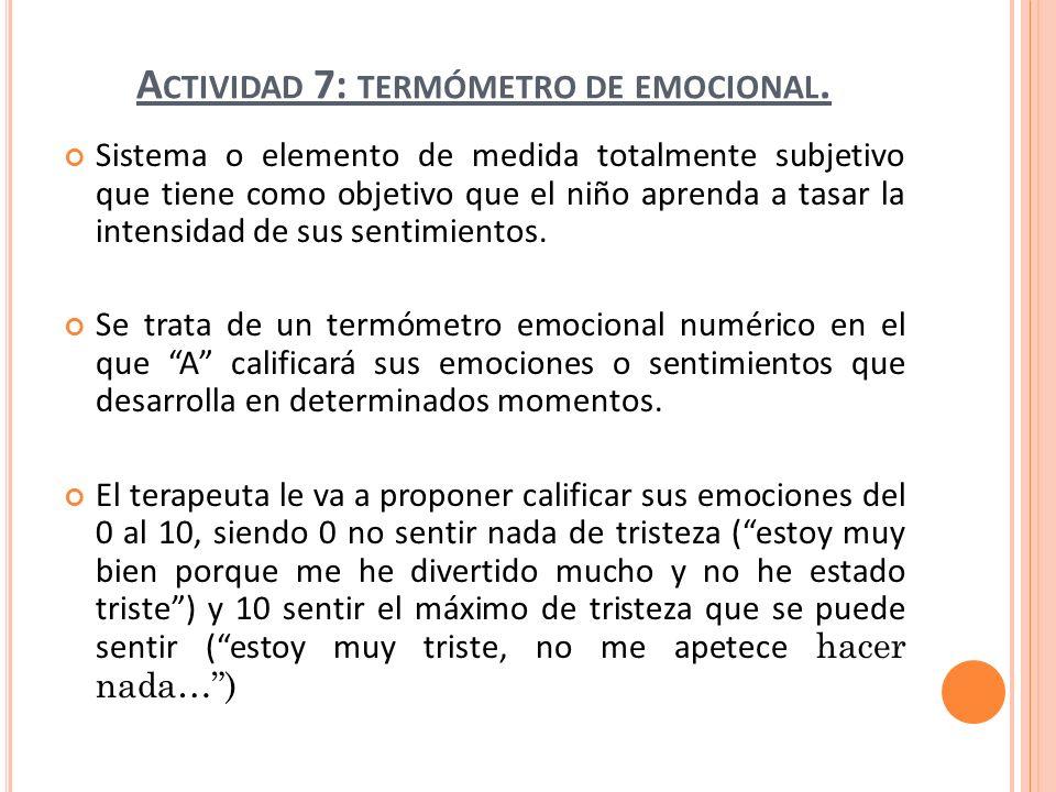 Actividad 7: termómetro de emocional.