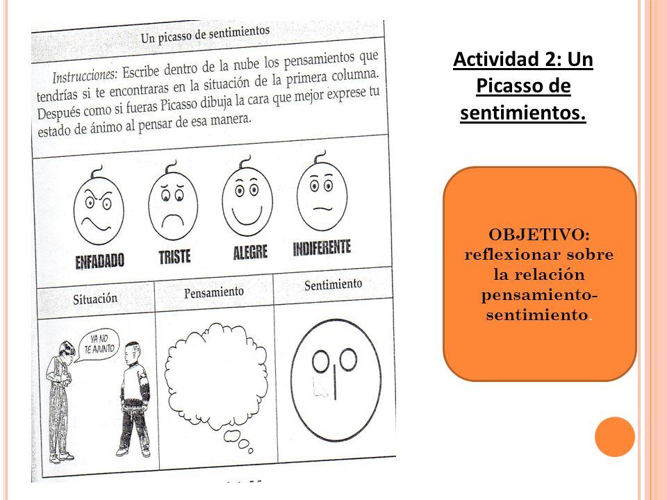 Actividad 2: Un Picasso de sentimientos.
