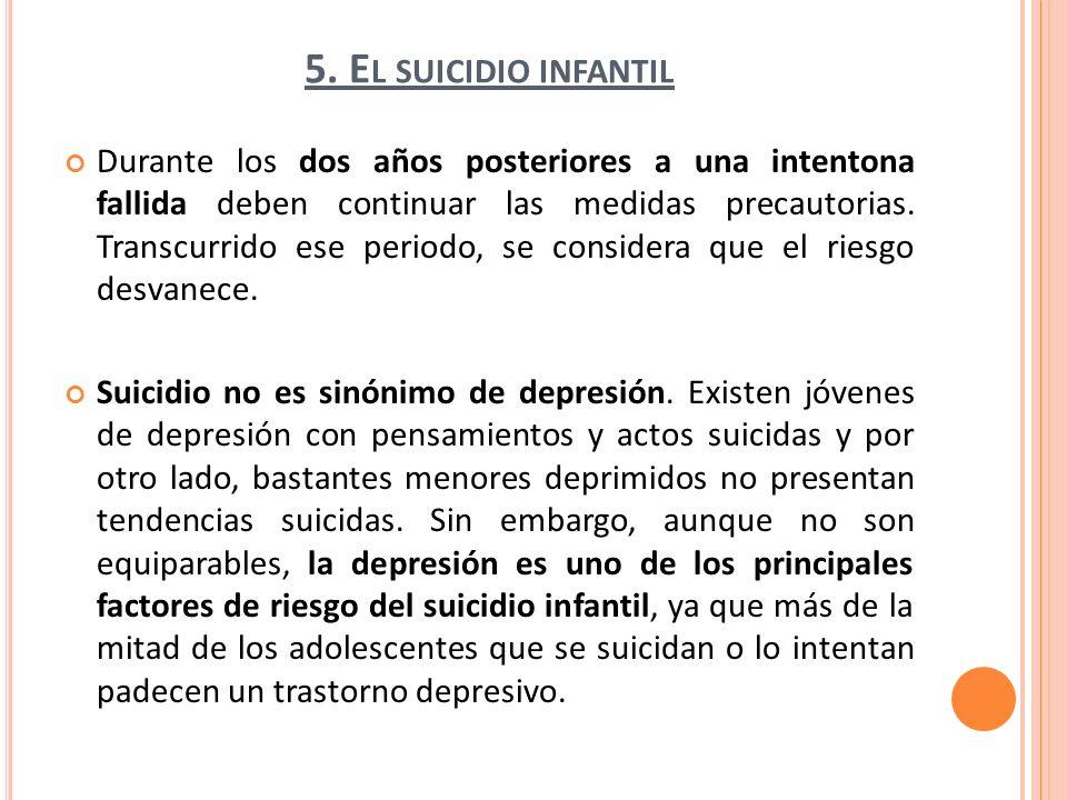 5. El suicidio infantil