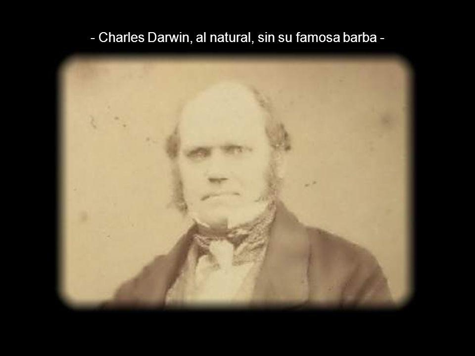 - Charles Darwin, al natural, sin su famosa barba -