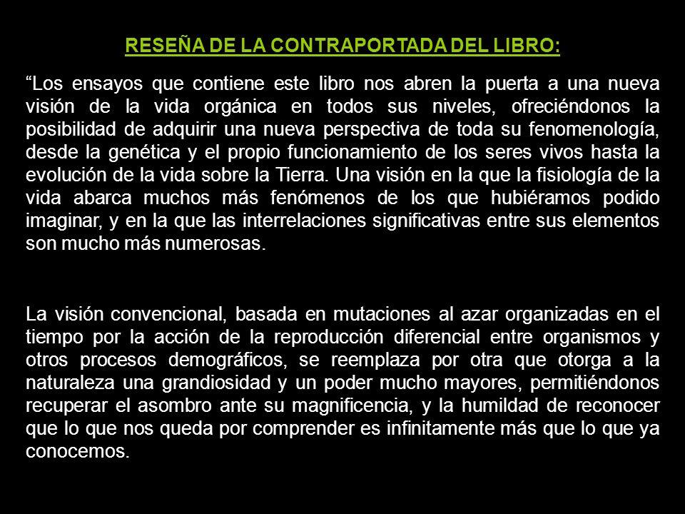 RESEÑA DE LA CONTRAPORTADA DEL LIBRO: