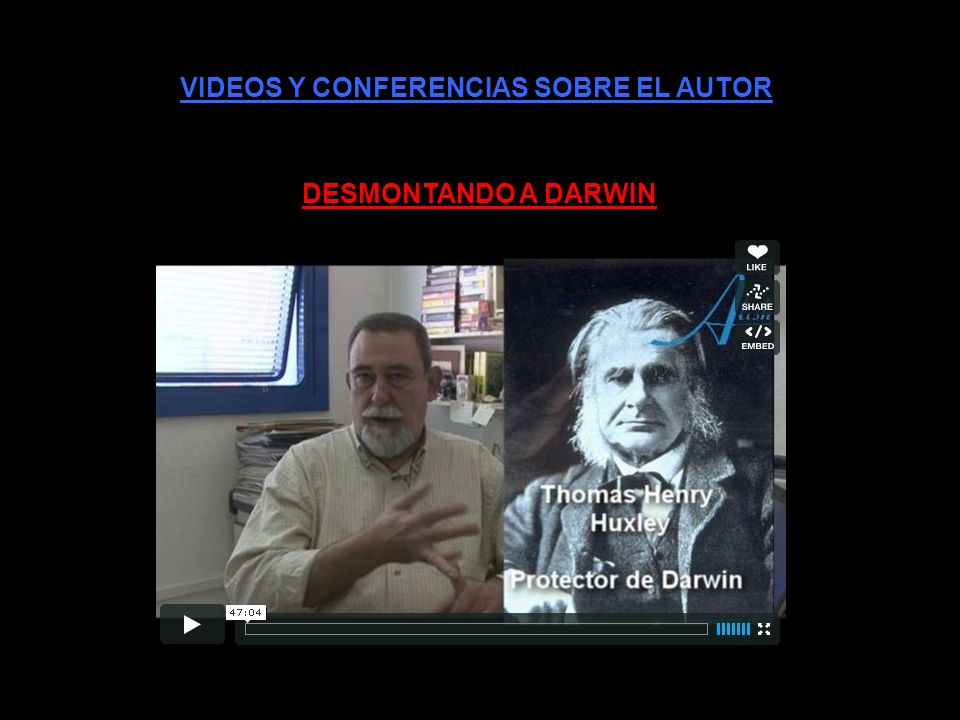VIDEOS Y CONFERENCIAS SOBRE EL AUTOR