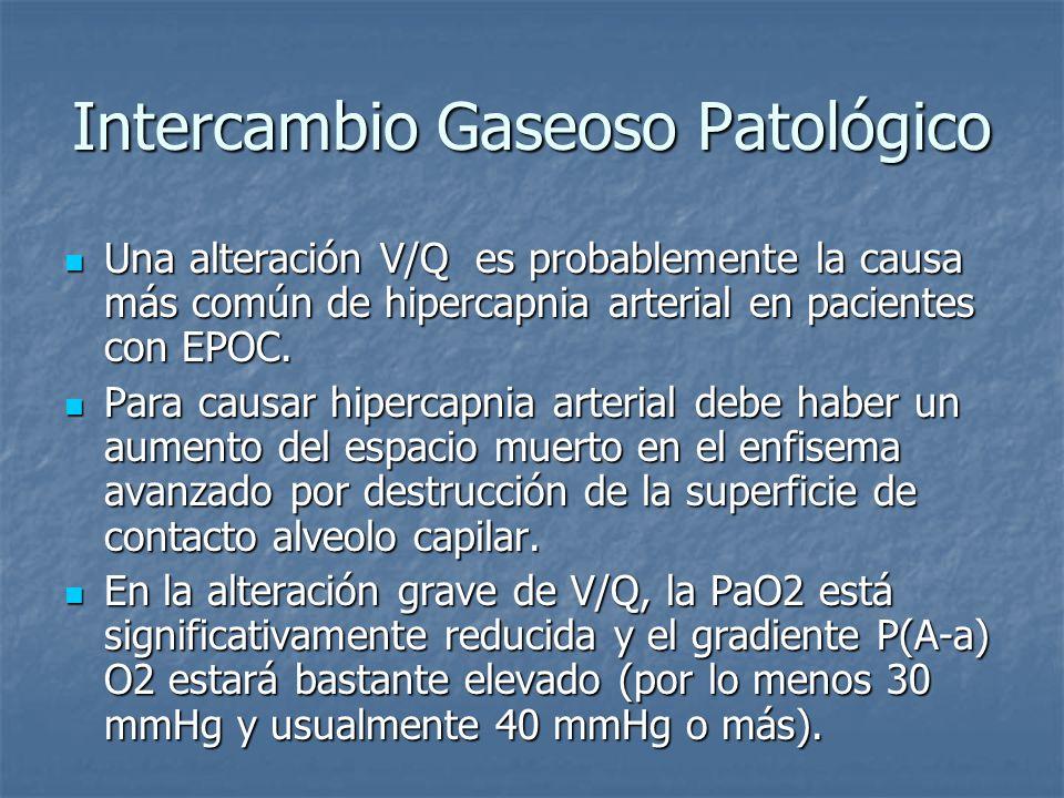 Intercambio Gaseoso Patológico